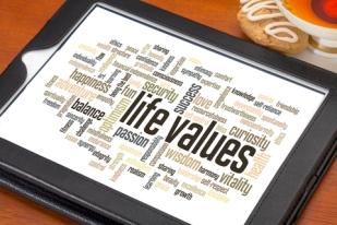 life values word cloud